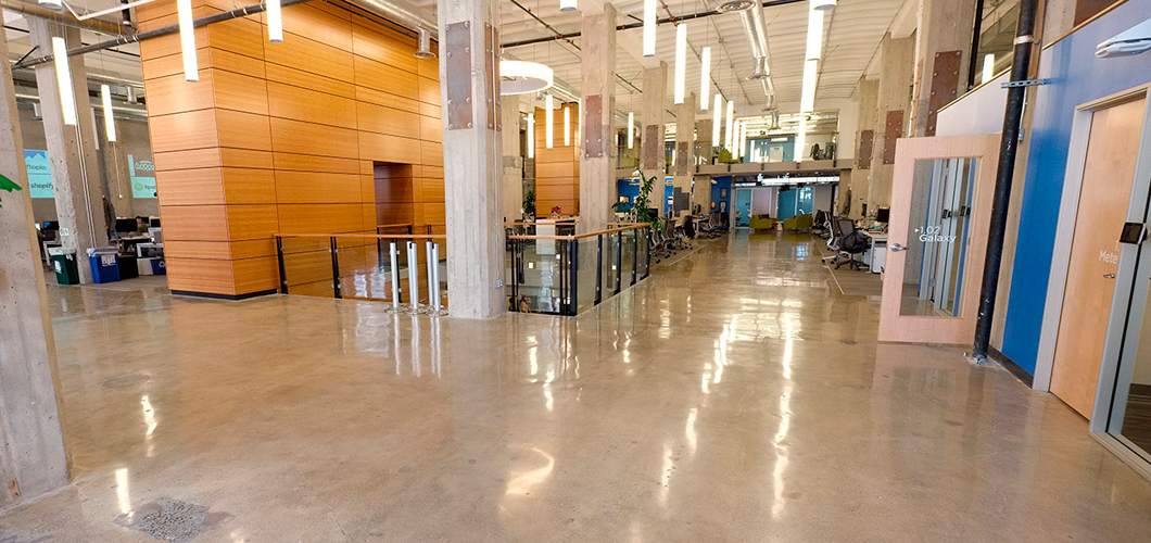 baker slide epoxy flooring